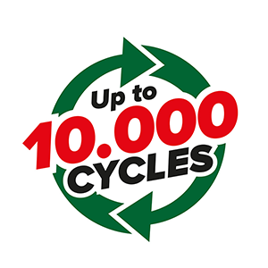 Up to 10,000 cycles